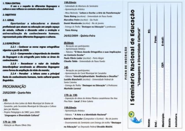 SMEC apresenta ao legislativo I Seminário Nacional da Educação