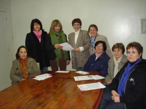 Vereadora Sandra recebe comissão do CPERS