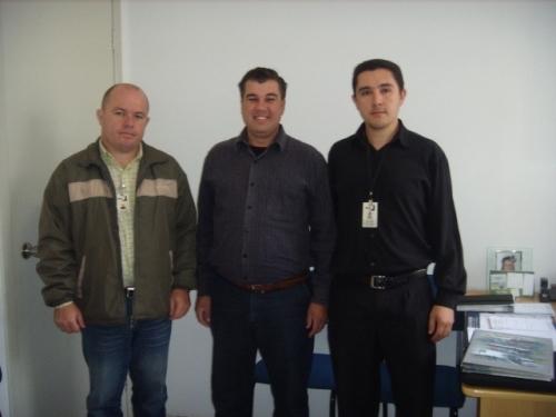 Vereador Rudinei Brombilla recebe representantes da empresa Reunidas