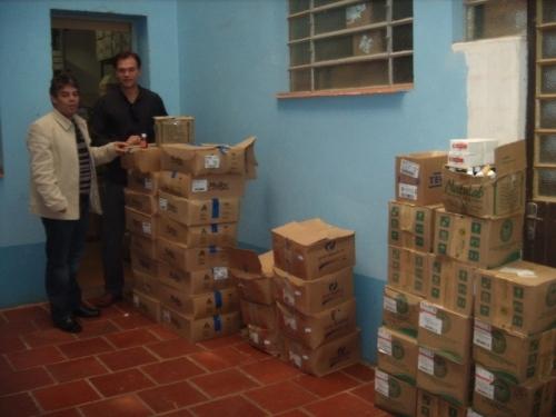 Erlei e Élbio visitam a farmácia básica municipal