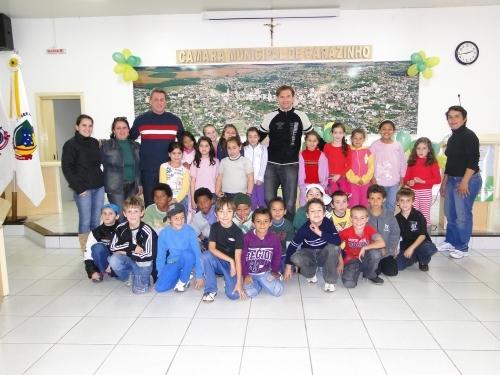 Câmara recebe alunos do Colégio Ernesta Nunes