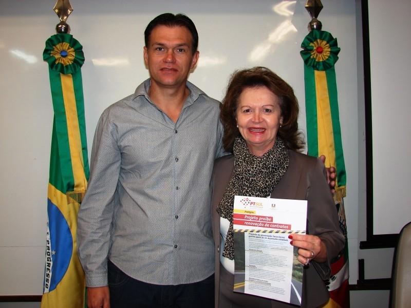Deputada Marisa recebe o presidente Erlei Vieira