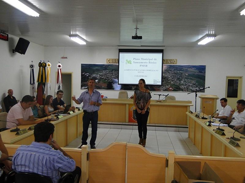 Audiência Pública sobre Plano Municipal de Saneamento (PMSB)