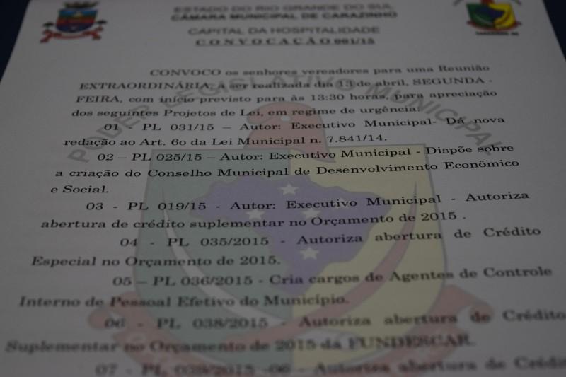 Sessão Extraodinária é convocada para votar contratação de Agentes de Endemias