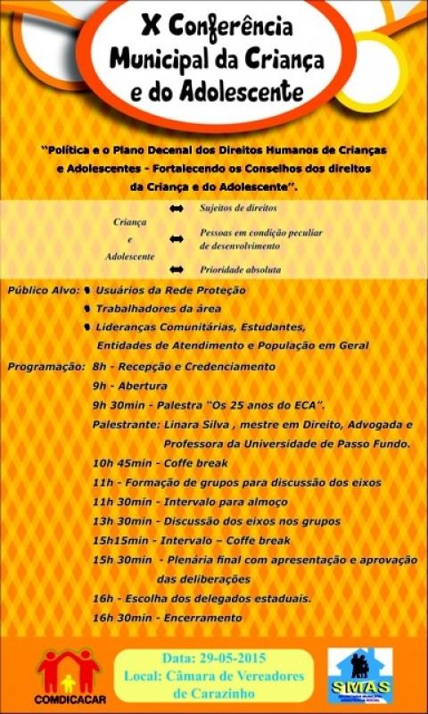 Câmara sediará Conferência Municipal dos Direitos da Criança e do Adolescentes