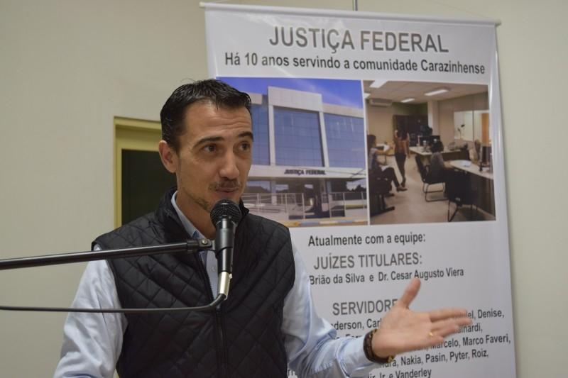 Sessão homenageia 10 anos da Justiça Federal em Carazinho