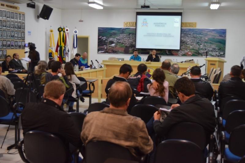 Legislativo buscará entidades de classe para discutir projeto de Políticas e Taxas Ambientais