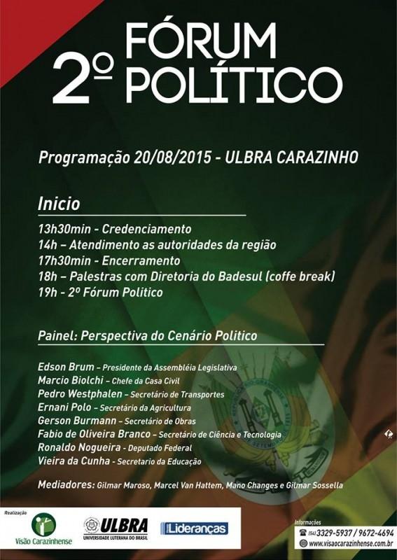 Legislativo confirma participação no 2º Fórum Político