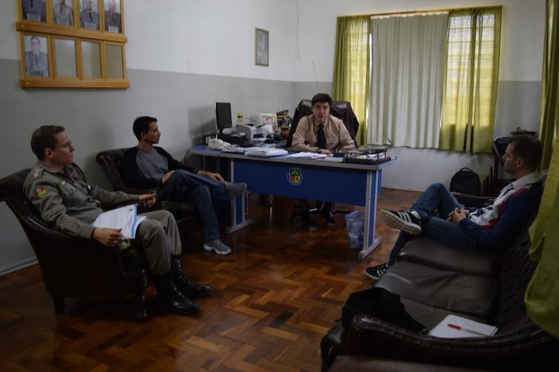 Segurança pública é discutida em reunião entre vereadores e BM