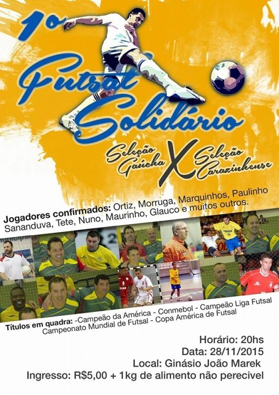 Comunidade já pode adquirir ingressos para 1º Futsal Solidário de Carazinho