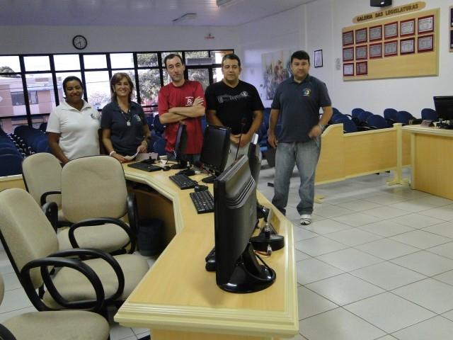 Representantes do Legislativo de Santa Bárbara do Sul Visitam o Legislativo Municipal.