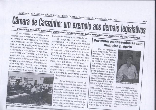 Homenagem ao Vereador Salvador de Souza Leal