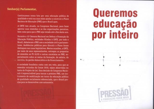 Presidente participa de Manifesto pela Educação