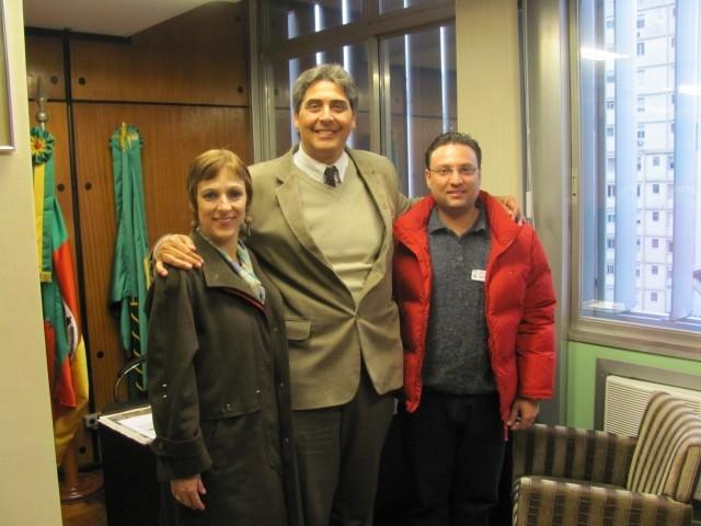 Sandra e Grandó são recebidos pelo Líder do PMDB na Assembléia Legislativa