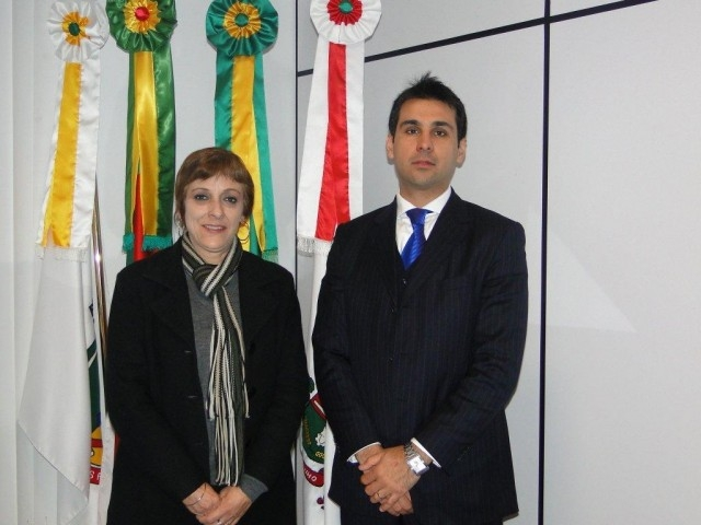 Sandra Citolin recebe o Diretor do Foro e Juiz Federal Titular da Subseção de Carazinho