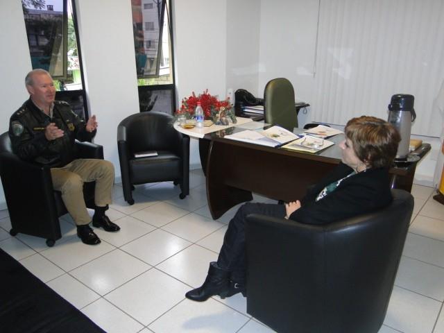 Sandra Citolin recebeu o Chefe da 14ª Delegacia de Polícia Rodoviária Federal