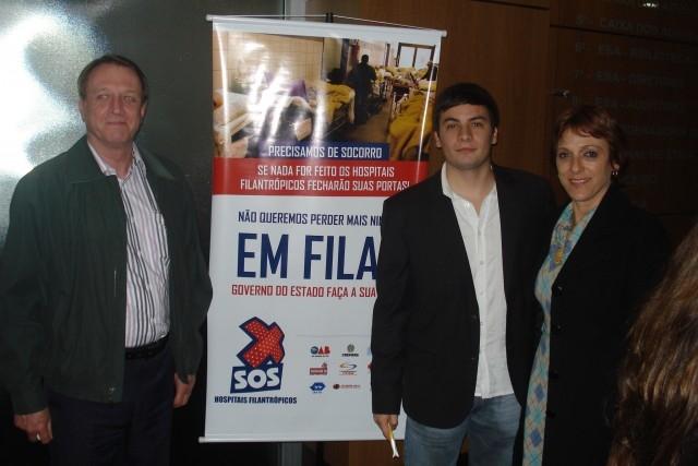 """A Presidente Sandra Citolin participou do movimento """"SOS Hospitais Filantrópicos"""