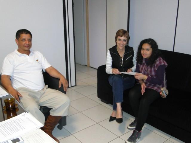 Representantes da equipe Bombacha Larga realiza visita a Presidente Sandra Citolin