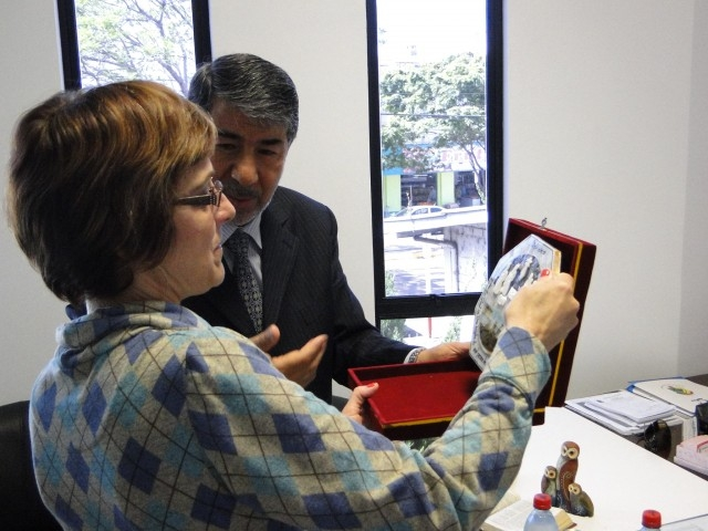 Sandra Citolin recebeu embaixador da Palestina no Brasil