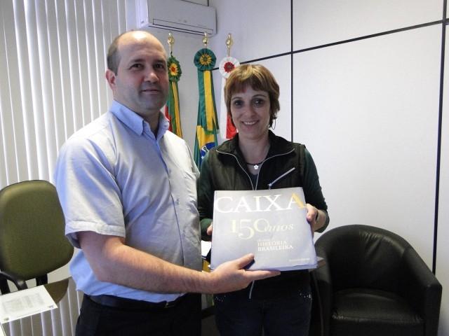 Presidente recebe o Gerente Local da Caixa Federal