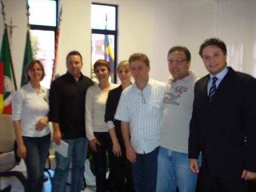 Trabalhos da nova Mesa Diretora em 2009.