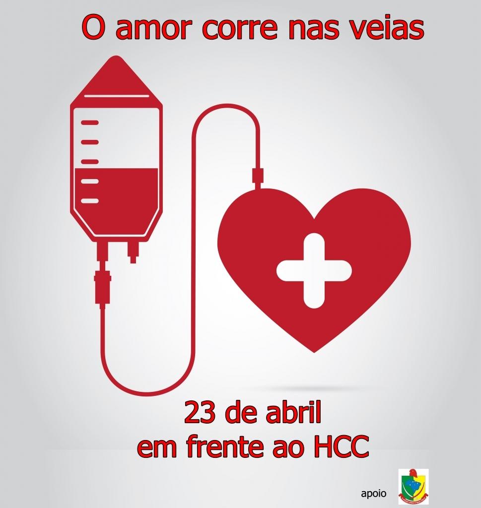 Sábado é dia de doar sangue