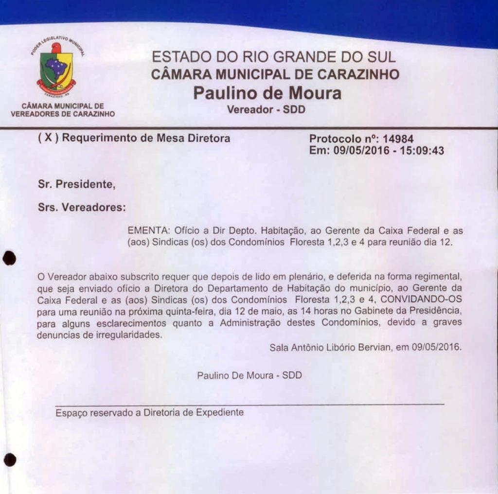 Denúncia de irregularidade na área de habitação será discutida na quinta-feira