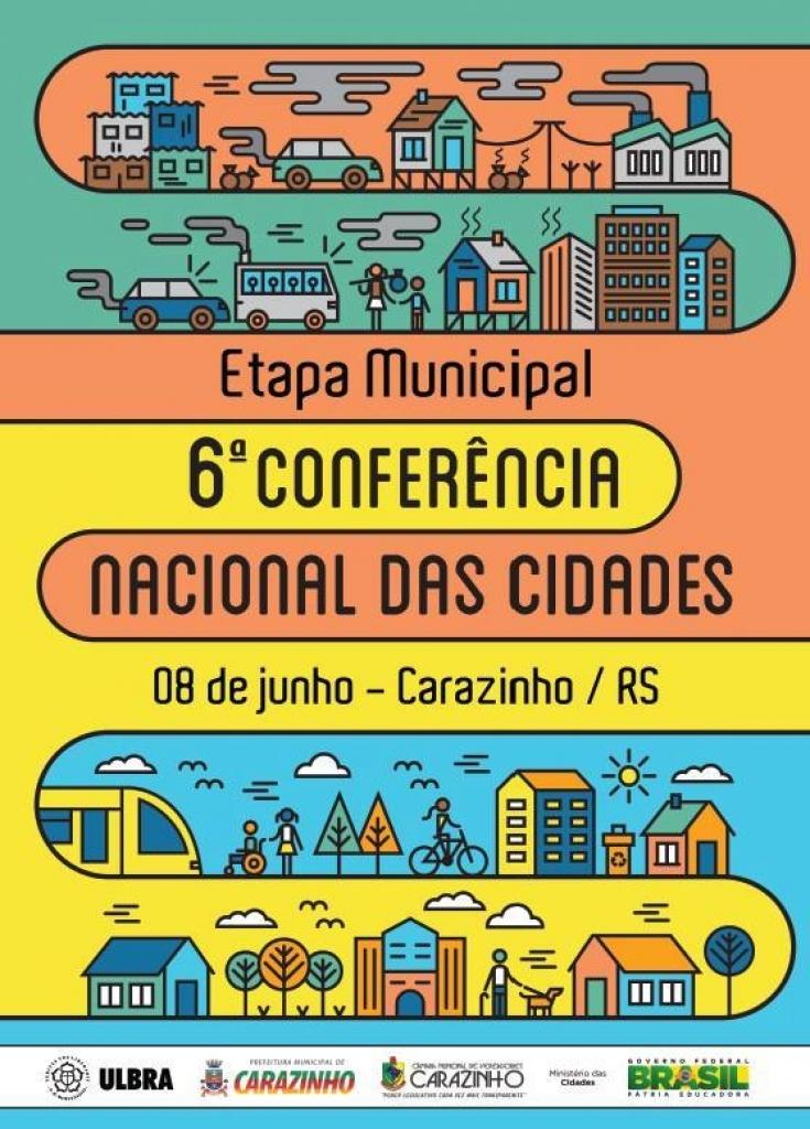 Etapa municipal da Conferência Nacional das Cidades será nesta quarta-feira
