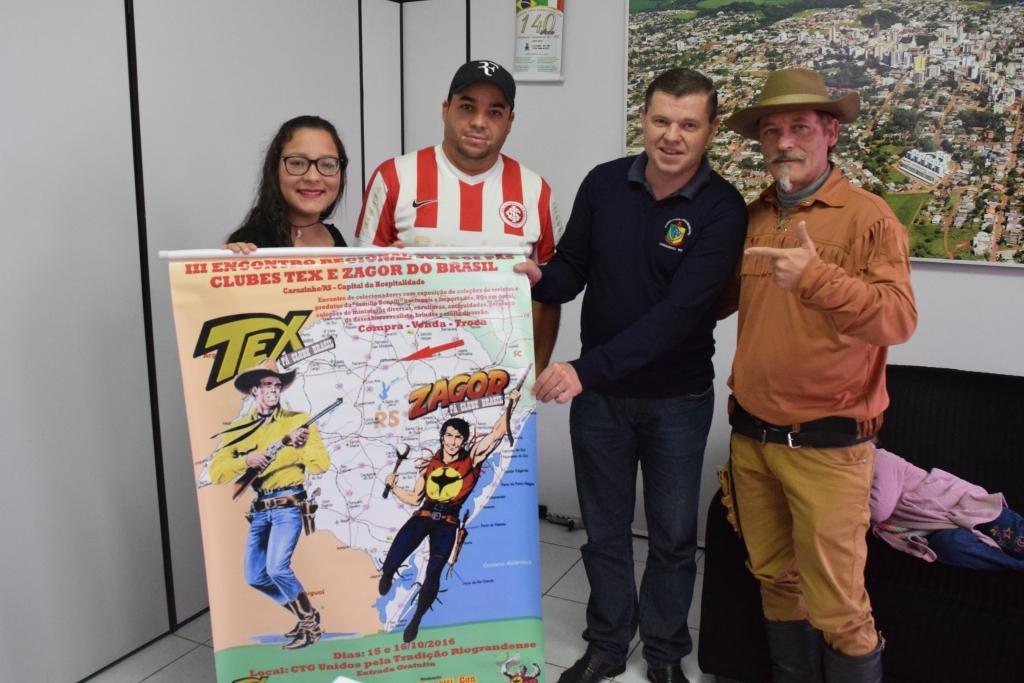 Organizadores de encontro regional sobre Tex e Zagor visitam a Câmara de Vereadores