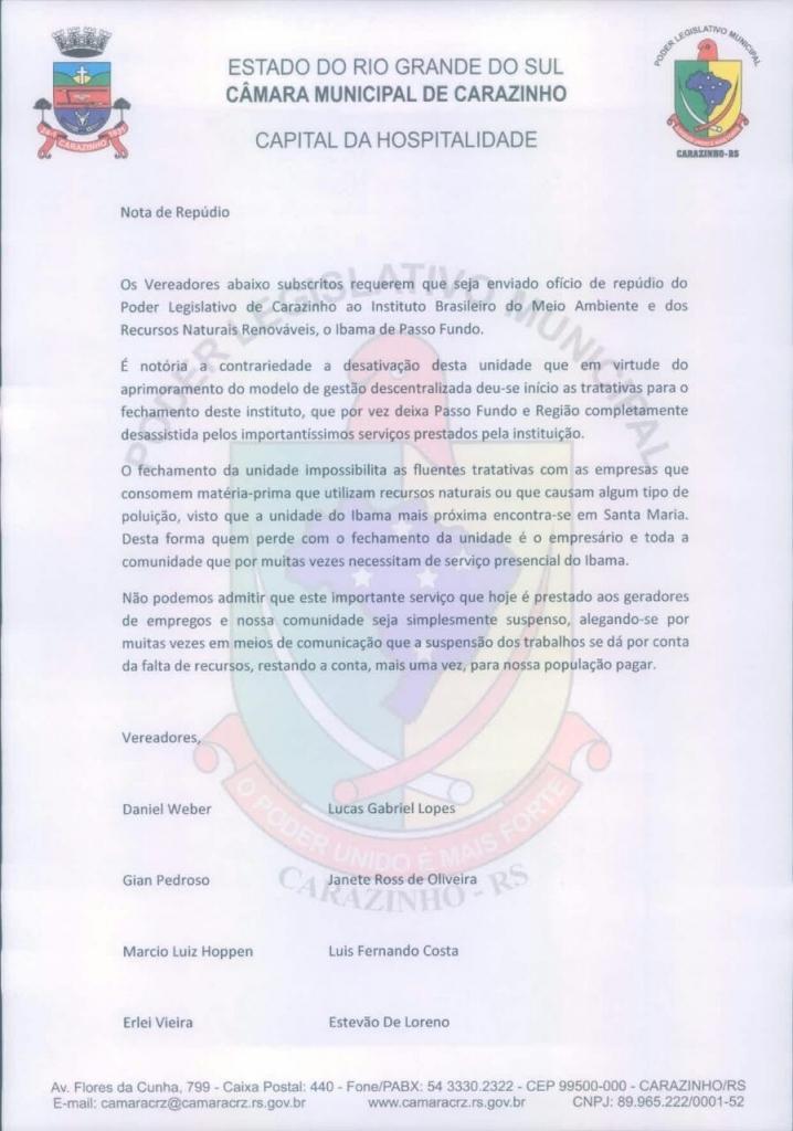 Legislativo se mobiliza pela permanência do IBAMA na região