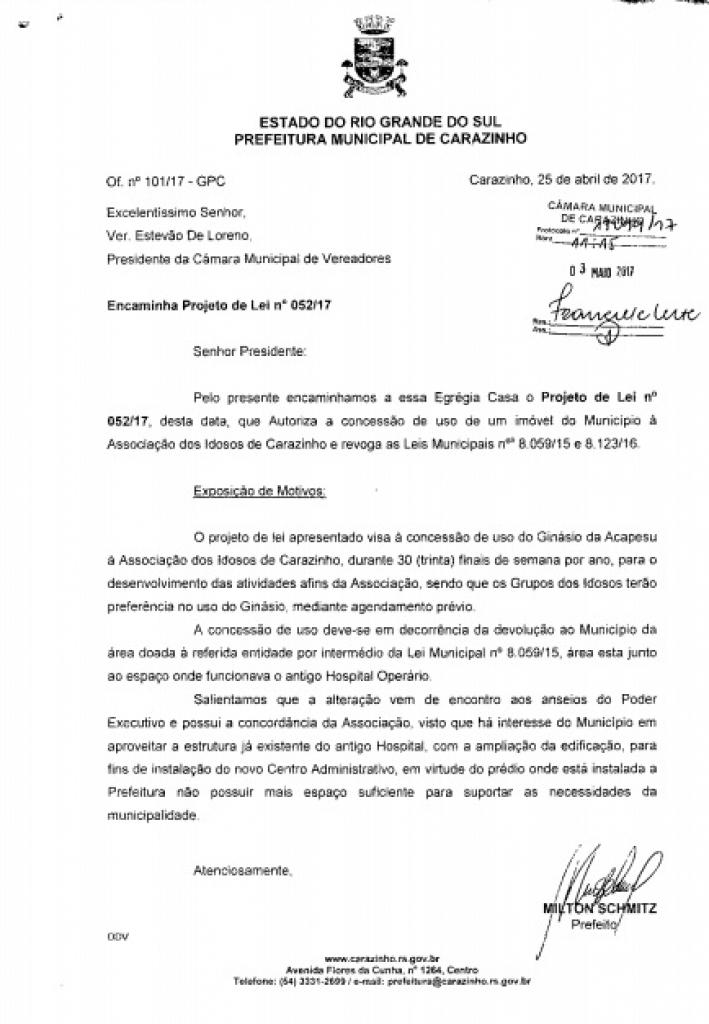 Município pretende conceder uso da Acapesu à Associação de Idosos, nos finais de semana