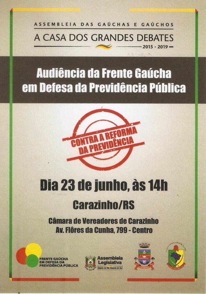 Audiência pública debaterá sobre a Reforma da Previdência