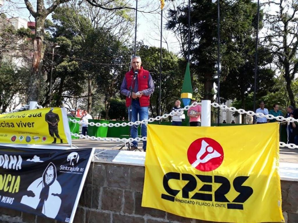 Carazinho tem mobilização contra o Governo do Estado