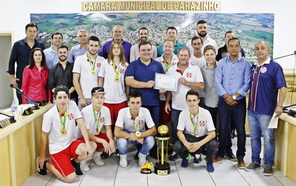 Câmara homenageia Sercesa pela conquista do Estadual Sub 15 de Futsal